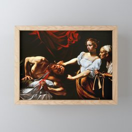 Caravaggio Judith Beheading Holofernes Framed Mini Art Print