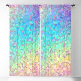 Pastel Rainbow Pointillized Design Blackout Curtain