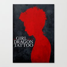 Girl with the Dragon Tattoo Canvas Print