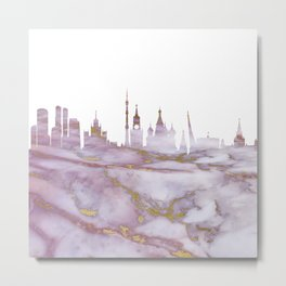Moscow Skyline Russia Metal Print