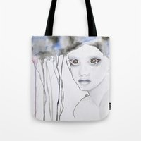 depression Tote Bags featuring Depression I by katimarco