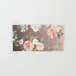 Flower Pattern Hand & Bath Towel