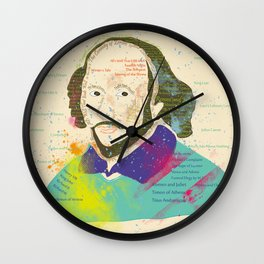 Portrait of William Shakespeare-Hand drawn Wall Clock
