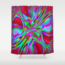 Red Foil Radiance Shower Curtain