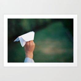 Paper plane Art Print