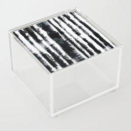 Tie-Dye Shibori Stripe BW Acrylic Box