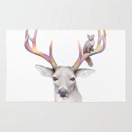 Deer & Marten Woodlan friends Rug