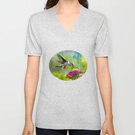 Sweet Hummingbird Unisex V-Neck