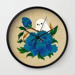 Minhwa: Crow-Tit and Peony C Type  Wall Clock