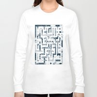 bathroom Long Sleeve T-shirts featuring Which Way To The Bathroom? by Chris Varnum