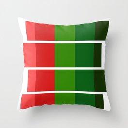 Christmas color bar Throw Pillow