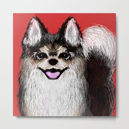 Happy Puppy Metal Print