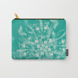 ghost bouquet and butterflies  on teal Carry-All Pouch