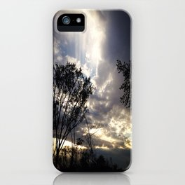 Peaceful and powerful sunset iPhone Case