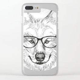 Wolf graphic, Animal print, Spirit Animal Tee Clear iPhone Case