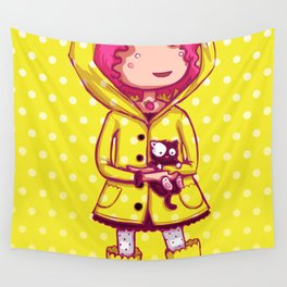 Raining Polka Dots Wall Tapestry