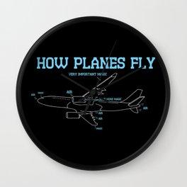 Aerospace Engineer Gift I How Planes Fly Wall Clock