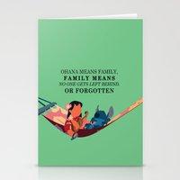 ohana Stationery Cards featuring Ohana by Dani Aviles