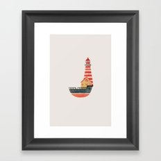 To The Land of Imagination Framed Art Print