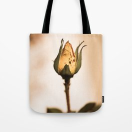 Yellow Rosebud with Bugs Tote Bag