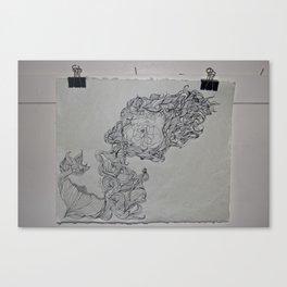 Ink & Pencil Canvas Print