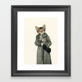 Kitten Dressed as Cat Framed Art Print