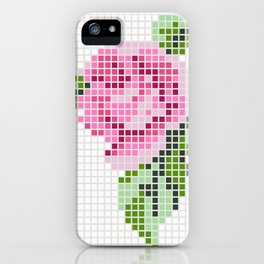 Shabby Chic Pink Rose iPhone Case