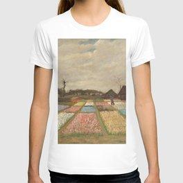 Bulb Fields by Vincent van Gogh T-shirt