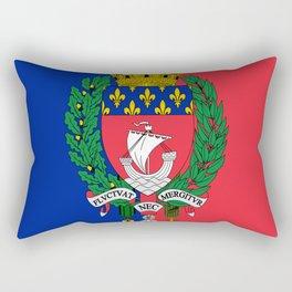 Coat of arms of Paris / Blason de Paris / Fluctuat nec mergitur Rectangular Pillow