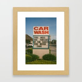 Car Wash  Framed Art Print