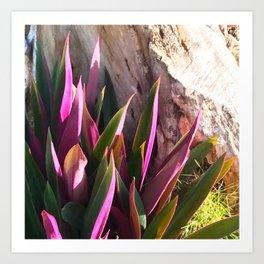 Purple Natural Gift Plant Art Print