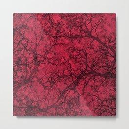 Amaranth Red Hunting Camo Pattern Metal Print