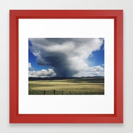 Storm clouds in Montana Framed Art Print