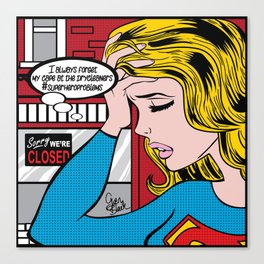 #superheroproblems SuperGirl Canvas Print