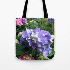 Swirl Flower Tote Bag