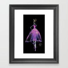Hot Pink Fashion Illustration Framed Art Print