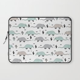 Cool western cactus desert Armadillo Animals illustration pattern Laptop Sleeve