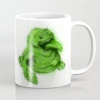 ghostbusters Mugs featuring Ghostbusters Slimer by KitschyPopShop