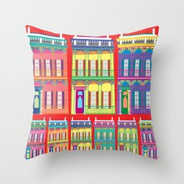 NEW ORLEANS HOUSES Throw Pillow