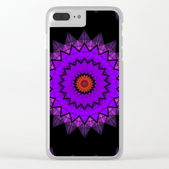 Abstract patterns in purple and black colours . 2 Clear iPhone Case