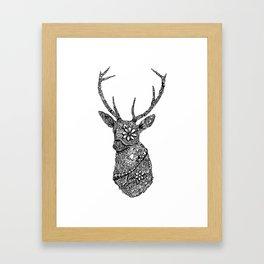 Stag Head Zentangle Framed Art Print