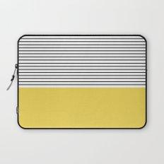 MINIMAL Green Stripes Laptop Sleeve