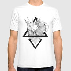 TWINS SMALL White Mens Fitted Tee