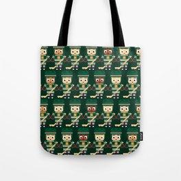 Super cute sports stars - Ice Hockey Green Tote Bag