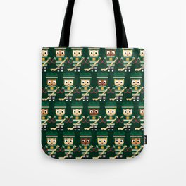 Super cute sports stars - Ice Hockey Green Tote Bag