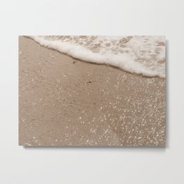 Sparkling Diamond Beach Metal Print