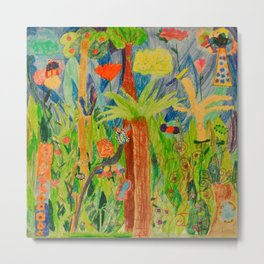 Paradise Delight   Kids Painting by Elisavet Metal Print
