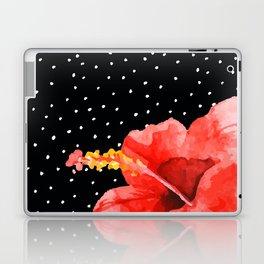 Tropical flower on dots Laptop & iPad Skin