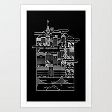 TOKYO BY NIGHT Art Print