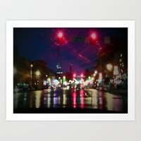 nashville Art Prints featuring Nashville  by Sophia Franc